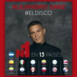 Alejandro Sanz #ElDisco número 1 directo en 13 países