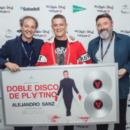 alejandro sanz doble disco platino #ElDisco