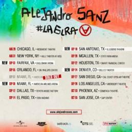 conciertos #lagira alejandro sanz estados unidos