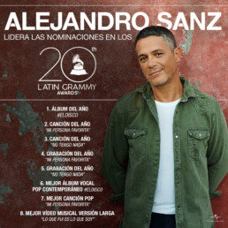 alejandro sanz nominado premios latin grammy 2019